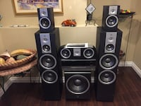 black and gray home theater speaker system Coquitlam, V3E 2Y3
