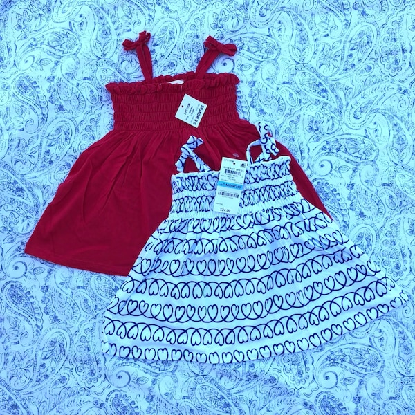 Used NWT 3-6mts dresses in pairs 47cd7cae6