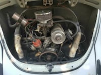 white and blue Volkswagen Beetle 1969 Fresno, 93728
