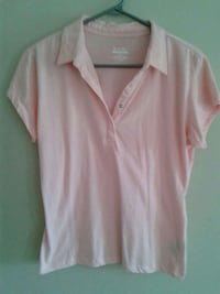Pale pink snap up T
