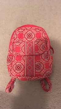 32fe5ab44 Used Small Vera Bradley backpack. Colors of orange, teal, white, and dark  purple for sale in Franklin Park