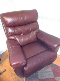 Burgundy Leather Recliner Silver Spring, 20910