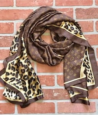 Extra Large Silk Pink or BrownLV Scarves/Shawl $90 each Oakwood
