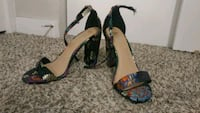 Brash Size 9 Embroidered Strappy High Heels Norman, 73069