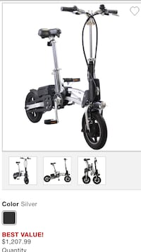 Black and gray folding bike