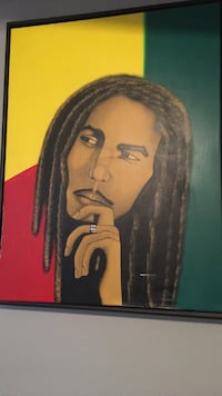 Bob Marley painting and frame Oakville, L6H 6S8