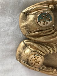 Pair of brass Tory Burch flats North Vancouver, V7L