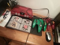 Nintendo 64 console with controllers and game cart Montréal, H1S 1B9