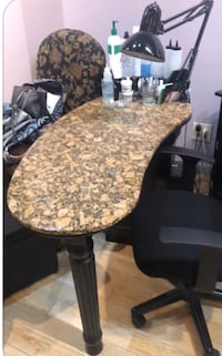 Manicure table with granite top and outlets  Montclair, 07042