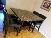 Dining table with four chairs  Mississauga, L5N 7H2