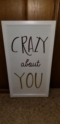 """""""Crazy about you"""" hanging picture"""
