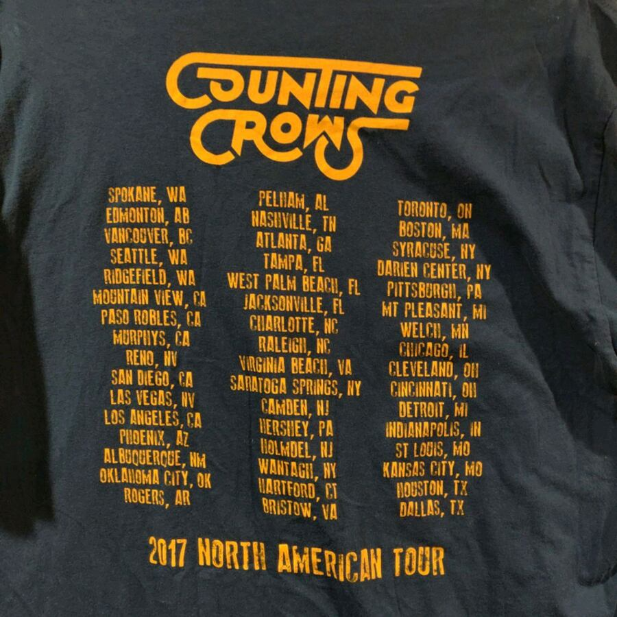Counting Crows tour t-shirt