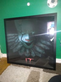 Framed poster from the It movie