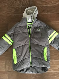 gray and green zip-up bubble hoodie Waterford, 20197