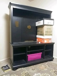 black wooden TV hutch with flat screen television Ogden, 84405