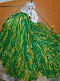 green and gold cheerleader pom poms Eau Claire, 54701