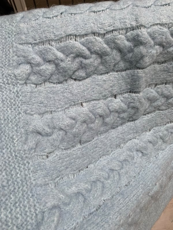 Baby blue wool blanket 1