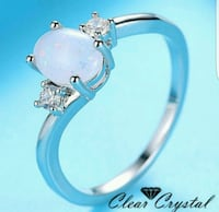 Oval cut synthetic opal white gold filled sz 9 Middletown, 17057