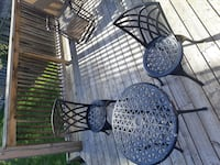 Solid patio chairs and table Oshawa