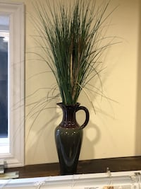 Jug vase with artificial grass  Courtice, L1E 2B5
