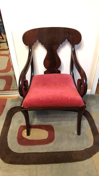 red and black wooden armchair Gaithersburg, 20882