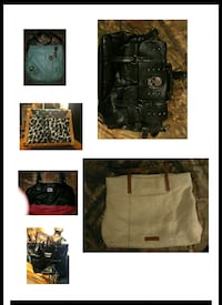 black leather tote bag collage Anderson