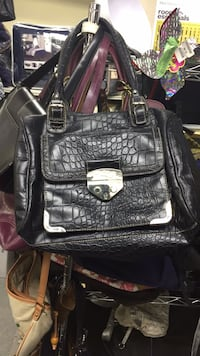 black and gray leather backpack Bayonne, 07002