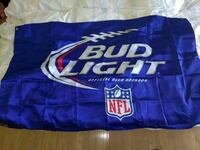blue Bud Light NFL banner Las Vegas, 89146