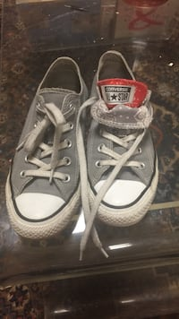 Converse All Stars size US 6 light grey double tongue