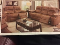 brown 4-piece sofa set poster Downey, 90242