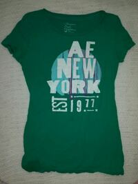 green and white Ae New York crew-neck t-shirt Oil City, 16301