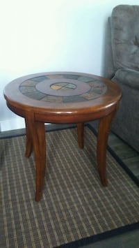 Wood Side Table with Stone Mosaic Surrey, V3S 3T1