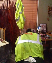 yellow and silver safety vest
