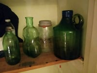 Vintage glass bottles  222 mi