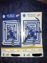 Pair of Toronto Maple Leafs Tickets Brampton