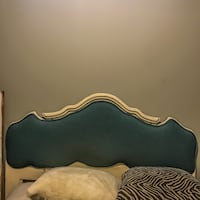 Vintage custom upholstered headboard for sale - moving sale - content sale - everything must go Toronto, M5J 3B2