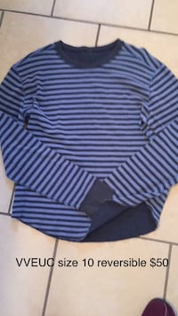 size 10 black and gray striped sweater 3483 km