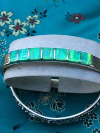 Beautiful sterling silver and Opal bracelet paid over 500 pounds for it on sale $99 2347 mi