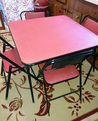Vintage Samsonite Card Table with 4 Chairs Uniontown, 44685