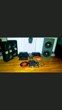 black and gray home theater system Newark