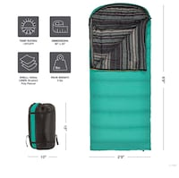 "Brand New TETON Sports Sleeping Bag 80""x33"""