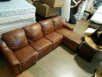 Leather sectional  Lake Park