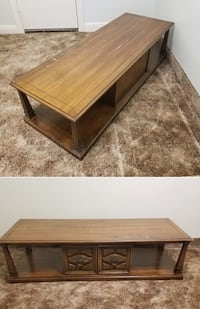 Traditional style Oak coffee table with enclosed storage area Toronto, M8Z 4Z5