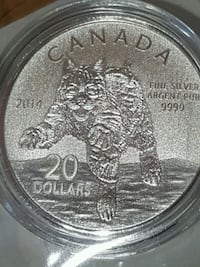 Bobcat pure silver limited edition coin Canada  Toronto, M3C