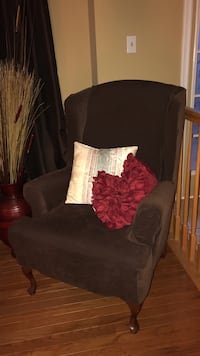 Brown suede wing chair District Heights, 20747