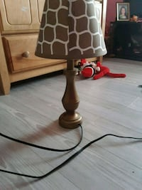 brown and black table lamp 304 mi