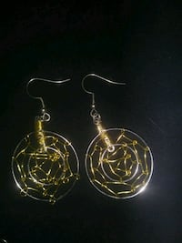 pair of gold-colored hook earrings Sparks, 89431