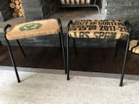Pair of Vintage Mid Century Stackable Stools - Refinished Markham, L3P 3L9