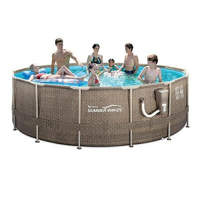 Summer Waves 14ft x 48in Frame Swimming Pool w/ Ladder and Pump 22e319dd-84f4-4360-9404-ea5b6db426e1