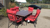 Black and red outdoor patio table set Kelowna, V1W 4R7